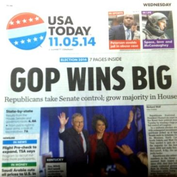 GOP Wins Senate, Dominates #Election2014 Headlines