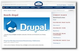 White House adopts Drupal open source CMS