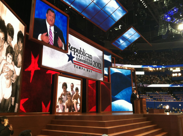 Amazing electricity on the convention floor @GovChristie! #GOP2012