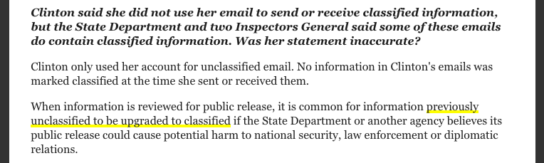 Hillary Clinton classified email