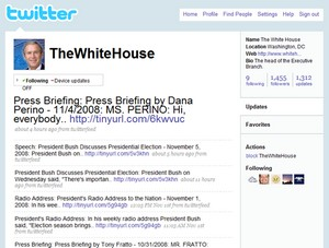 @TheWhiteHouse launched on Twitter in September 9, 2007
