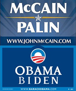 McCain vs. Obama Yard Signs