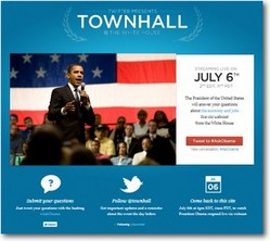 The White House hosts first Twitter Townhall on July 6, 2011