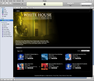 White House iTunes Room